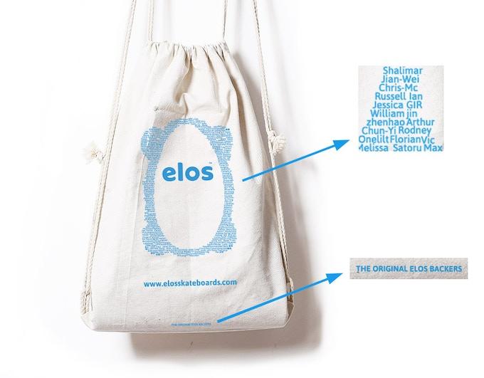 Elos bag is designed to fit in one Elos Skateboard.