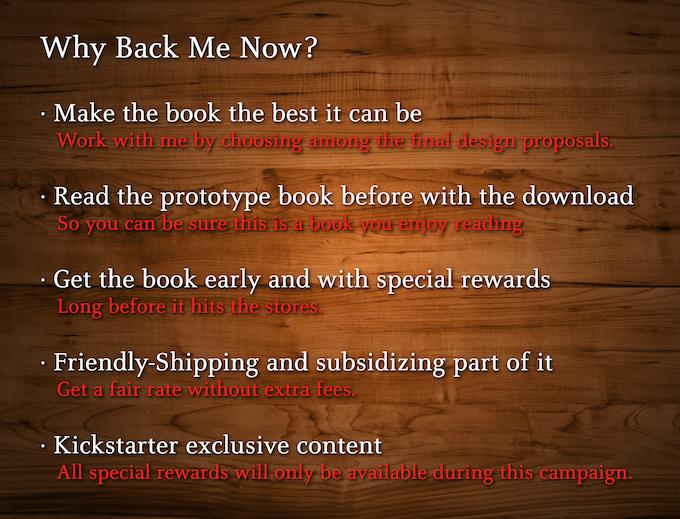 Hagamos el mejor libro, eligiendo juntos entre las propuestas finales · Descarga el libro muestra, seguro lo disfrutarás · Obténlo antes que las tiendas y con envío parcialmente subsidiado · Llévate las recompensas especiales, exclusivas de esta campaña.