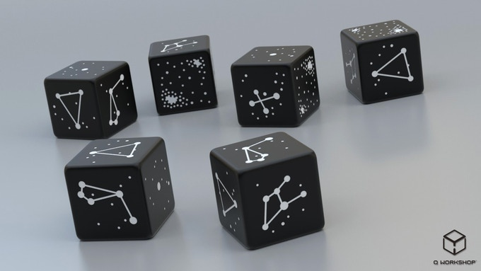 Rendering of Southern Sky Constellation Dice