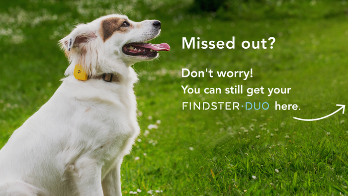 Findster Duo tracks your pets' location using GPS with no data fees, and rewards you for keeping them healthy! Smart. Connected. Fun.