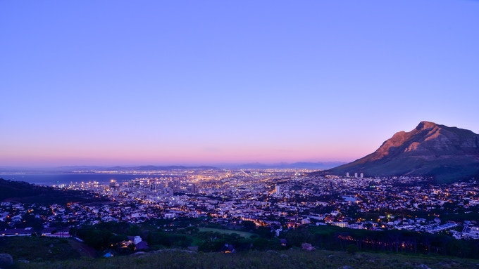 Dusk in Cape Town