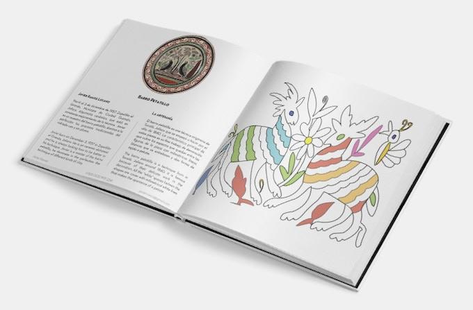 Artesanías Para Colorear Mexican Handcrafts Coloring Book