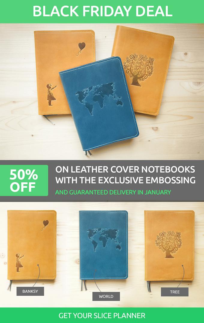Kickstarter Calendar Planner : Slice planner first notebook connected to digital
