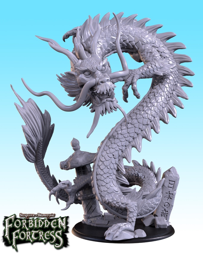 Sho-Riu, The Dragon King stands tall on a 90mm base