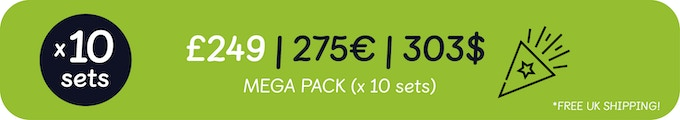 Densters Mega Pack is perfect for nurseries, schools and kids clubs. With a total of 10 sets including 80x toys, you can really take den building to a whole new level! And at a great price!