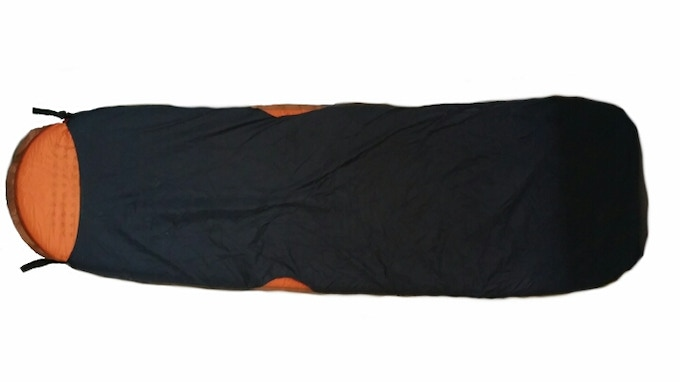 Backside shows inserted sleeping pad