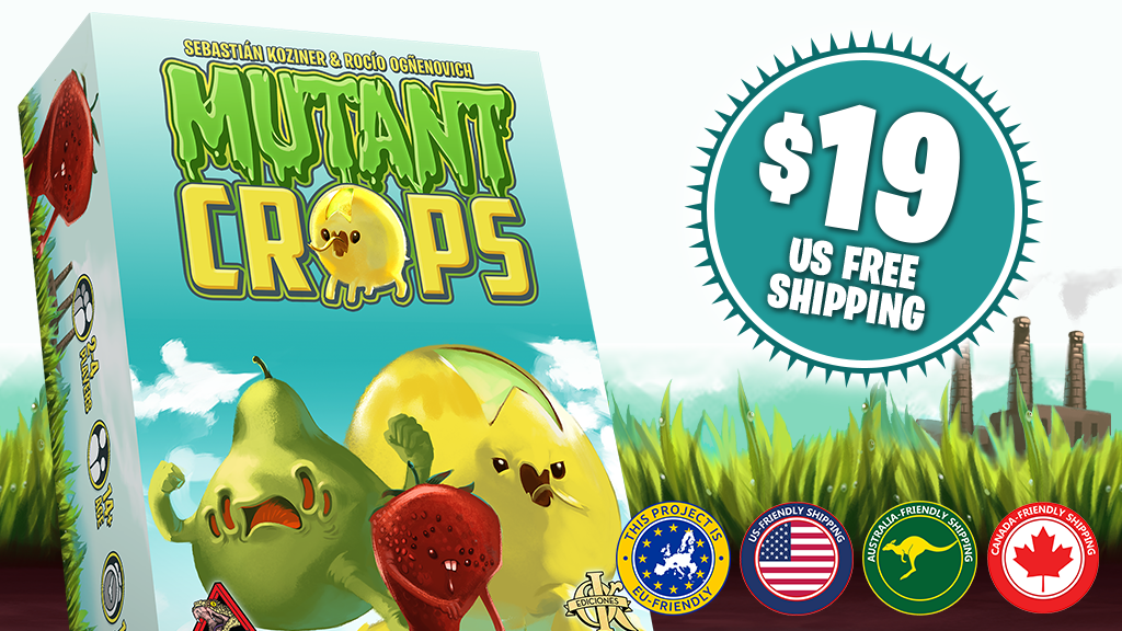 Mutant Crops - Quick Worker Placement Tabletop Game project video thumbnail