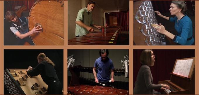 Chrysalis Musicians (clockwise from upper left): Brian B. James, Cris Forster, Heidi Forster, Isabelle Jotterand, Jacob Richards, David Boyden.