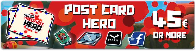 Pledge €45 or more: POSTCARD HERO