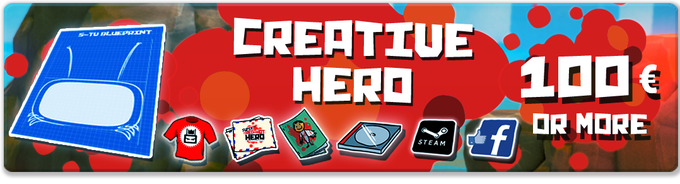 Pledge €100 or more: CREATIVE HERO