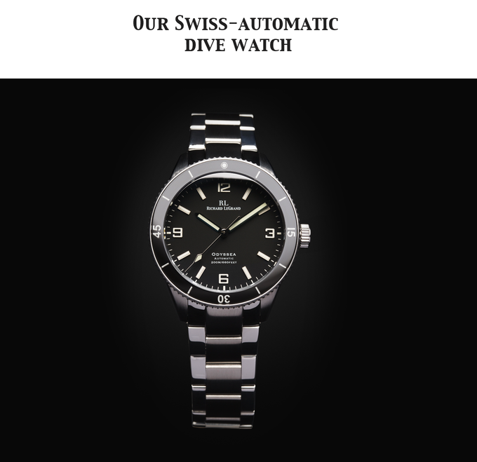 The Odyssea, Premium Swiss-automatic dive watch without the luxury price tag