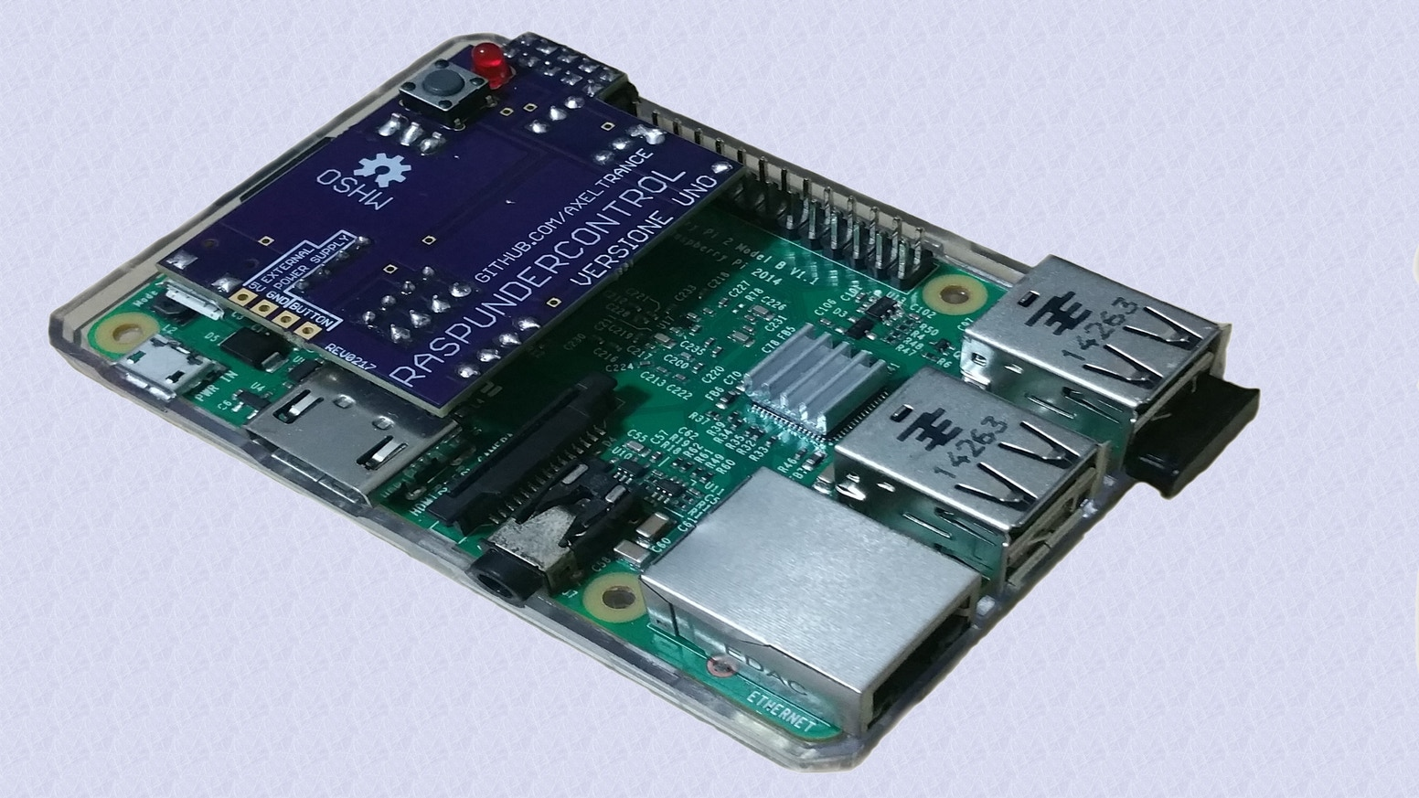 Smart Power Supply Unit for Raspberry Pi Family with infrared receiver
