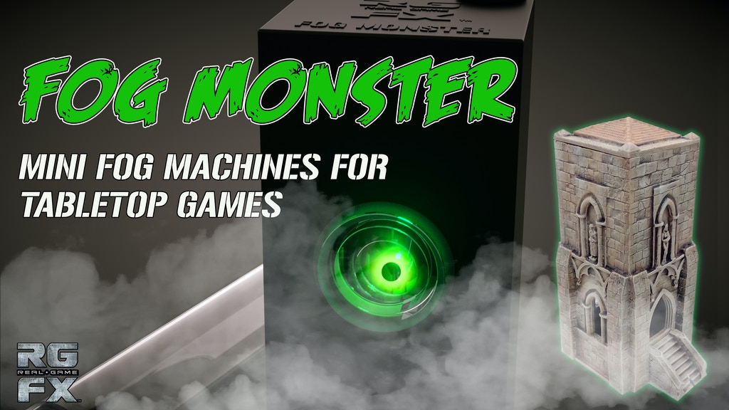 Fog Monster Mini Fog Machine For Tabletop Games & Special FX project video thumbnail