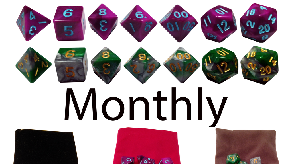 Project image for Exclusive Dice Monthly - Monthly Dice Service