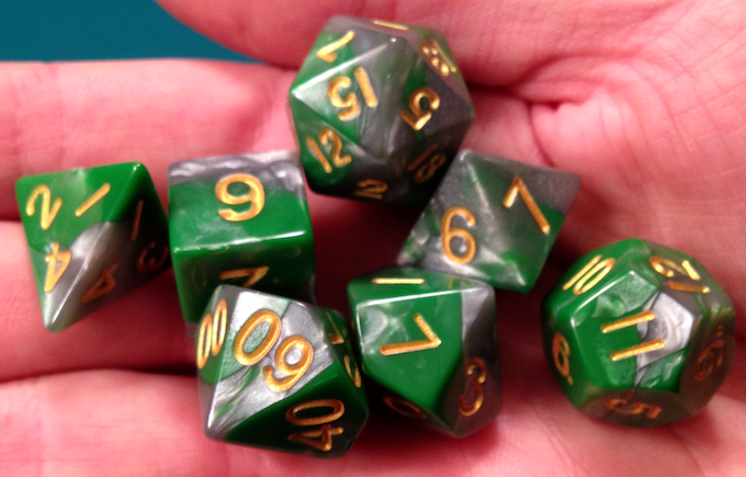 Green/Silver with Yellow Numbers