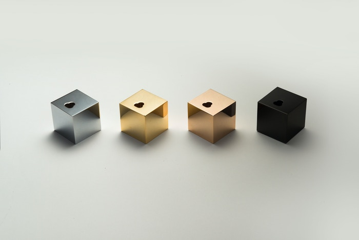 Pure, simple and minimal iPhone dock on your desk, shelf, side table, kitchen top.