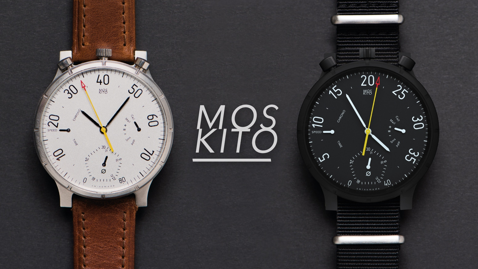 M O S KI T O – Precision chronograph and smart bike computer in one. A designer piece for gadget lovers.