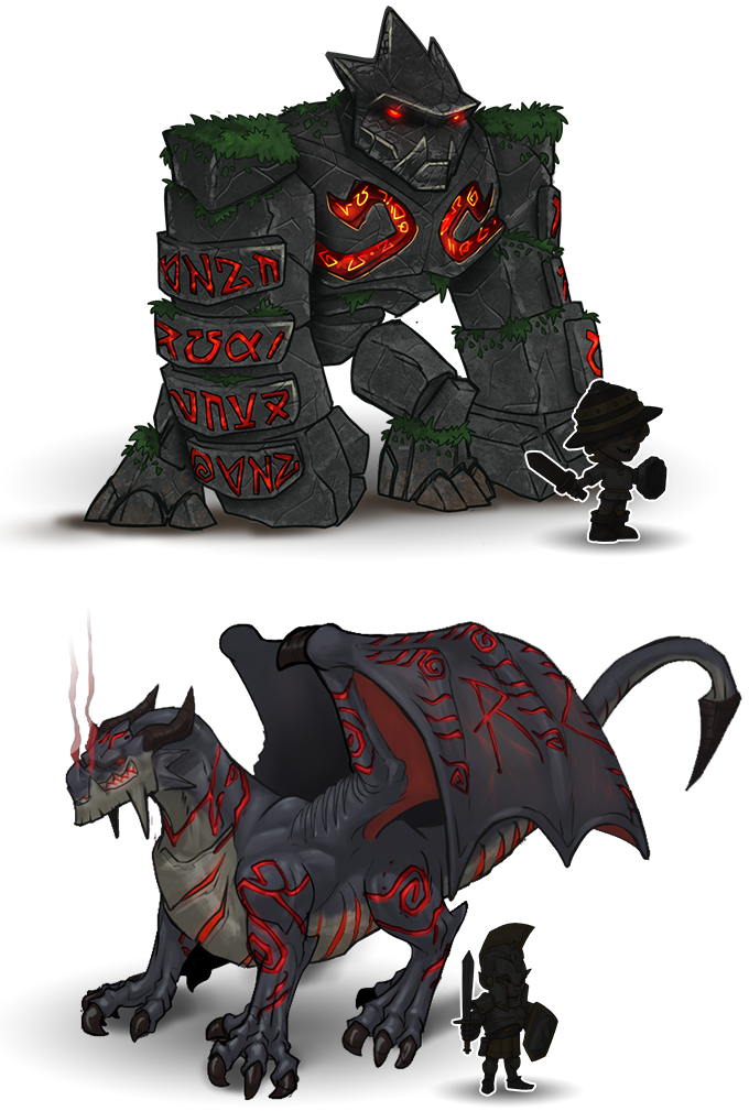 Concept Arts of the Bosses that the Kickstarter campaign will help us implement.