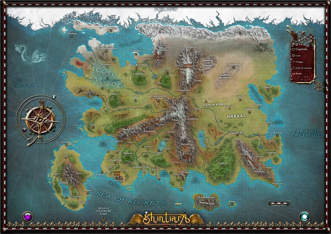 Map of Shintiara (available on canvas in the DELUXE reward)