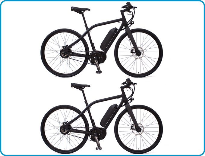 2x VIT-S (with carbon fibre Baramind BAM MTB and Miranda e-Bike Carbon Crank)