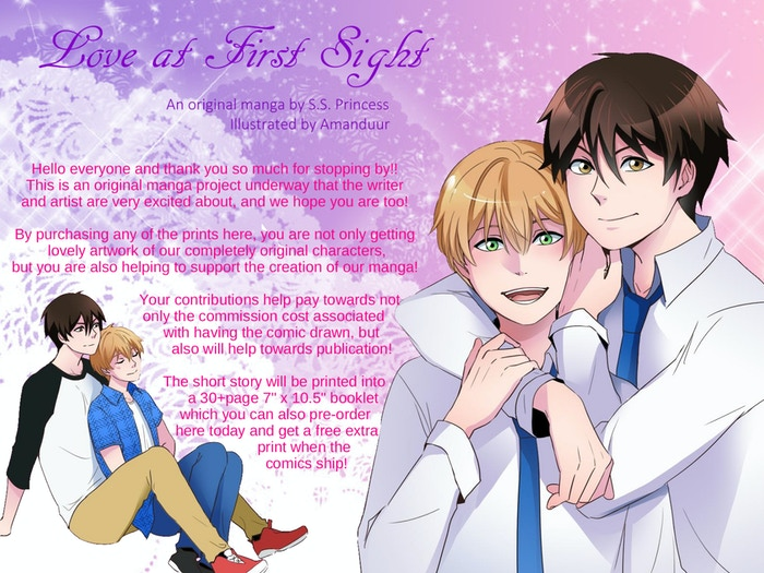 This is a totally original comic by S.S. Princess, illustrated by Amanduur! It is a light and fluffy BL romance! Enjoy!