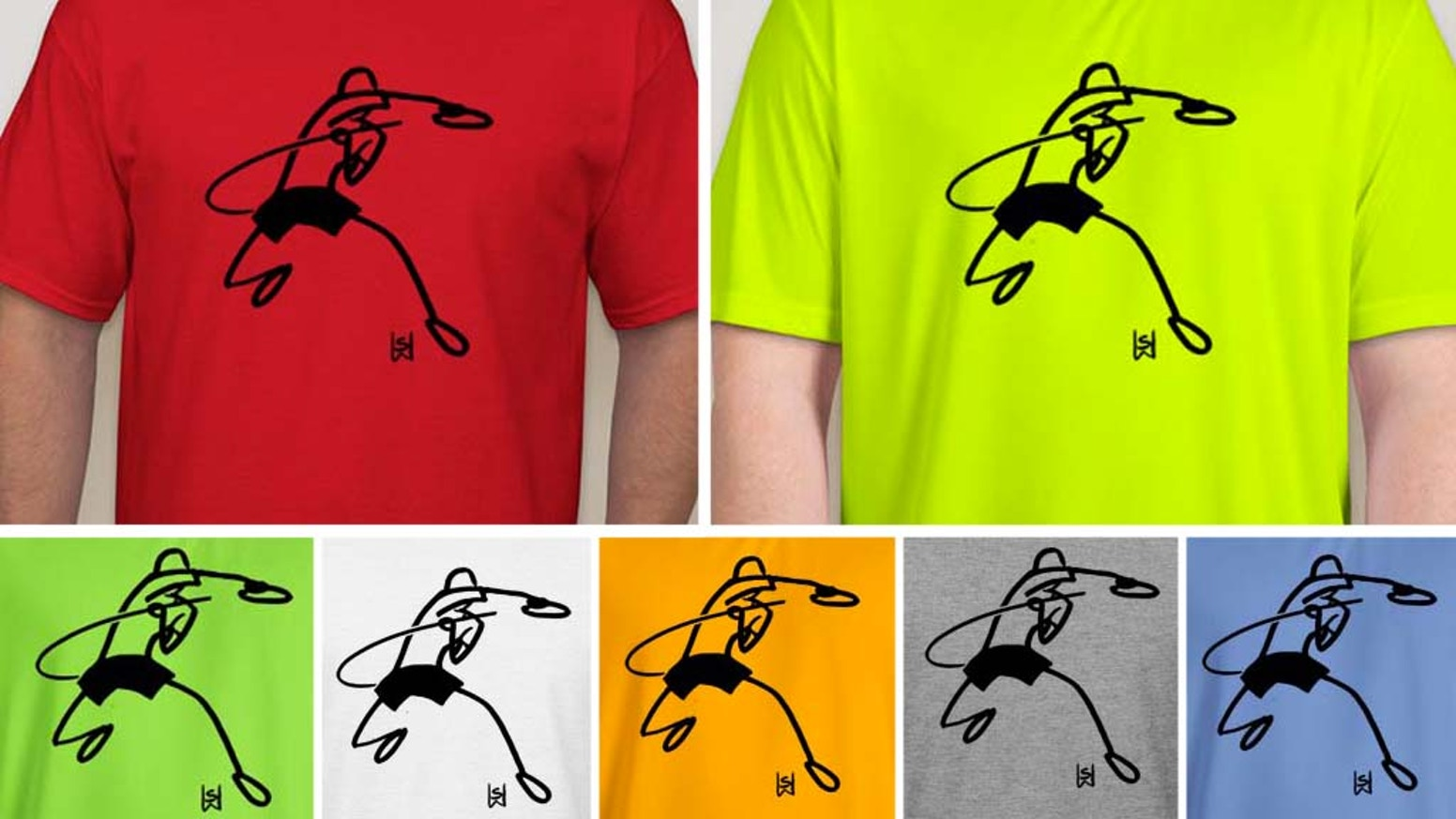 Table tennis stick figure T-shirt in many colors  Ping pong