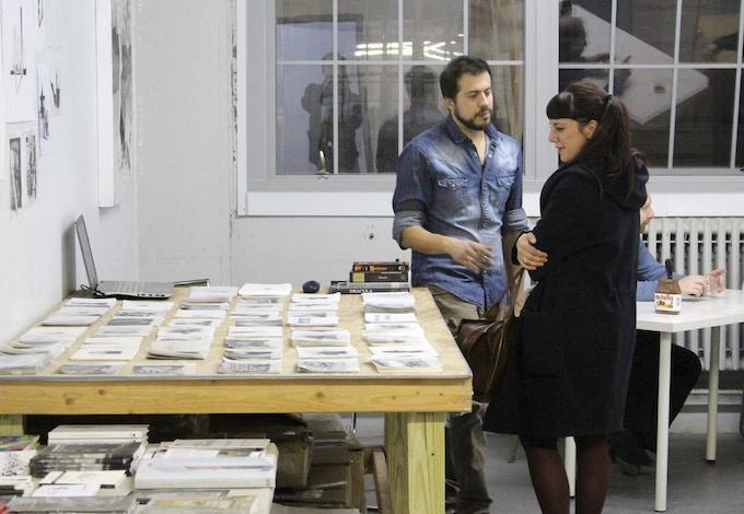 Studio visit with Andrea Mastrovito + Catered Reception