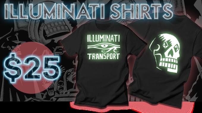 Glow-In-The-Dark T-Shirt ILLUMINATI TRANSPORT t-shirts!