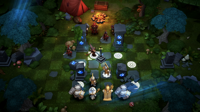Heroes move like Chess pieces on a 8x8 board and must complete level-based missions