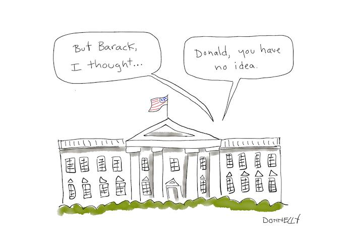 Obama advises Trump.
