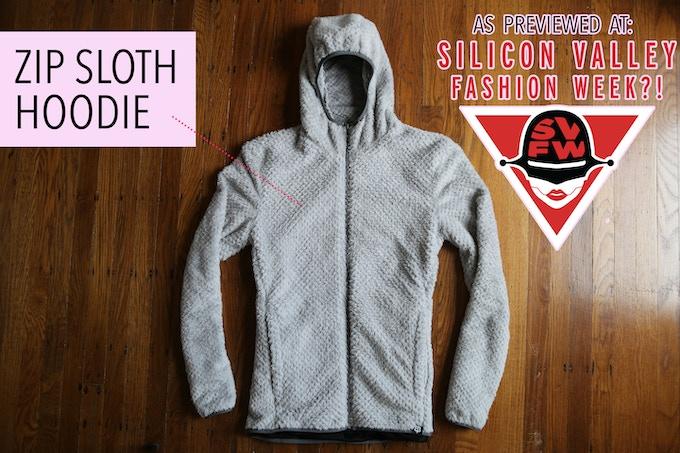 ZipSloth hoodie FRONT