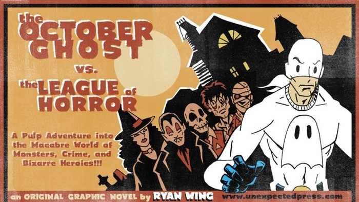 Pulp hero, The October Ghost, returns to face the League of Horror! Monsters, mystery, and terror lurk in these pages! Dare you read?