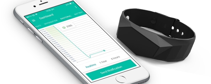 Tracker for seniors that can measure stress level in addition to medical data