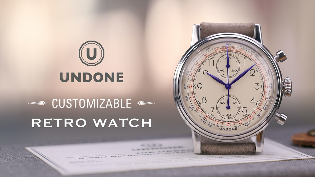 US$175 Customizable Retro Watch Challenge by Undone project video thumbnail