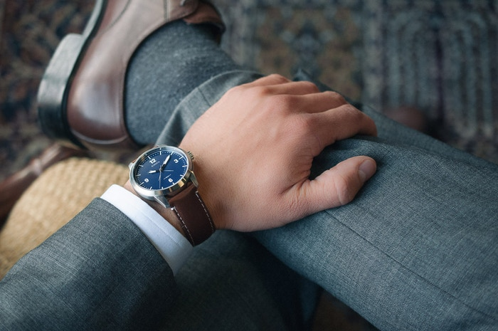 A watch inspired by the rugged and beautiful nature of Alberta, with an optional locally made Horween leather strap.