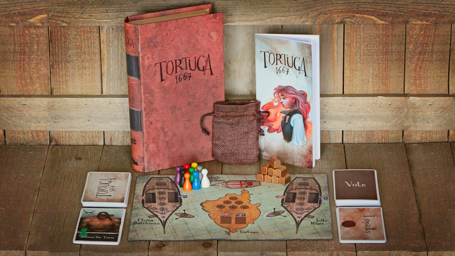 Steal treasure from the Spanish, but be wary of greedy crewmates who may be secretly plotting to maroon you to the island of Tortuga. Now available!