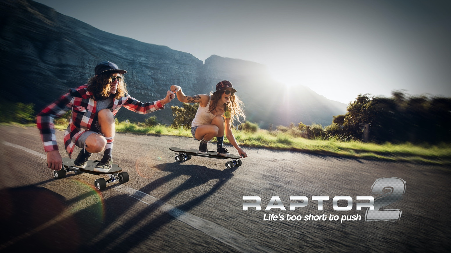 Introducing the Raptor 2. The world's most powerful direct drive electric skateboard. Featuring 28mph top speed & Over 25-mile range.