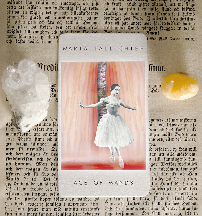 """(rendering of Ace of Wands) """"Very often you are in the right place, at the right time, but you don't know it."""" --Maria Tall Chief, American prima ballerina"""