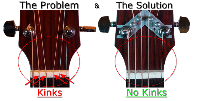 Without & with the STRING BUTLER