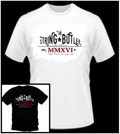 String Butler T-Shirt White Size: M-XXL