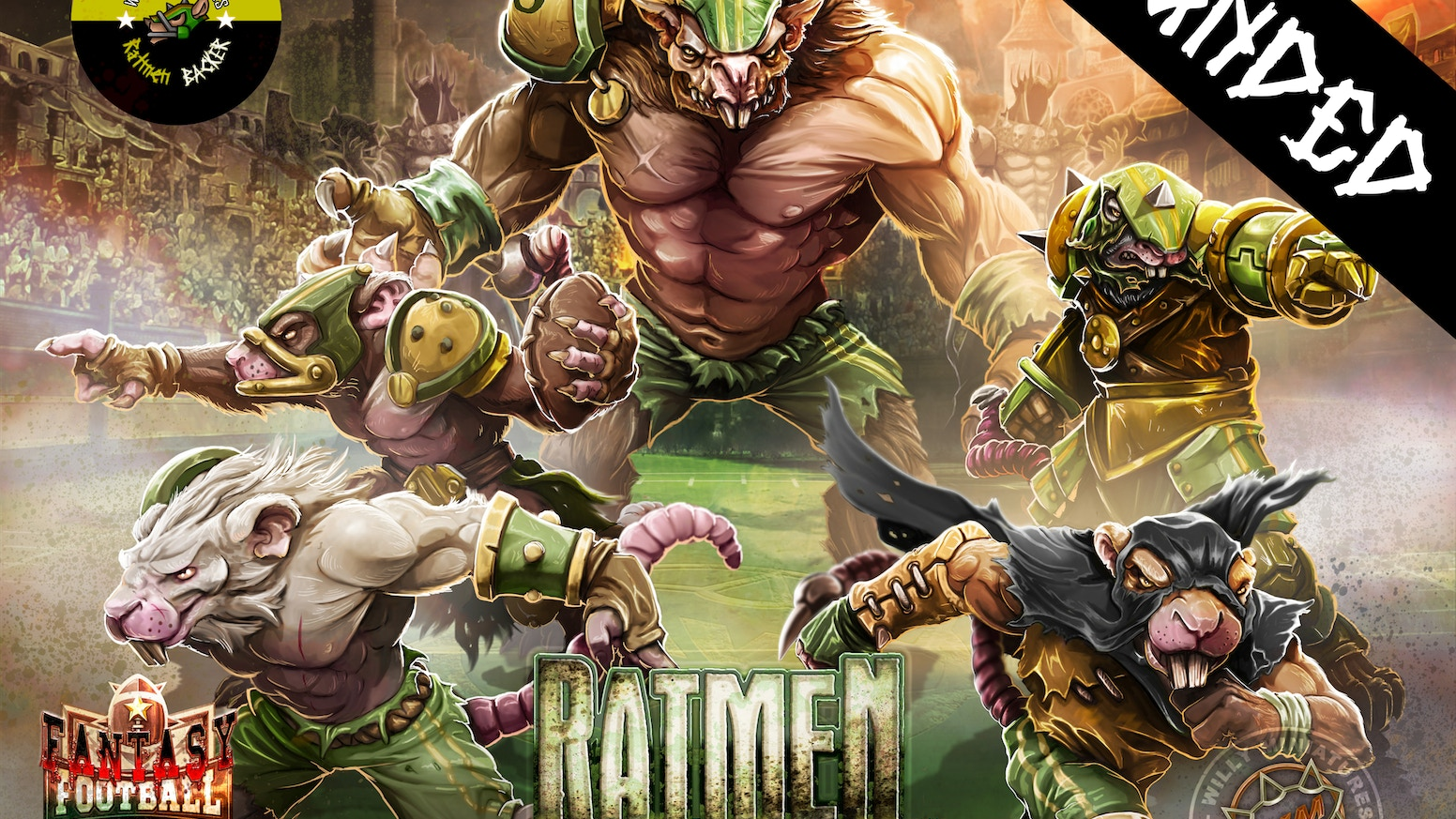 Willy Miniatures brings you a complete Ratmen Team. All the players you need, without duplicate models and made in glorious metal!!!