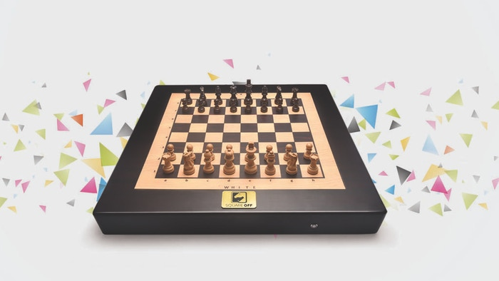 Challenge any online opponent across the globe or play against the artificial intelligence on this automated chess board.