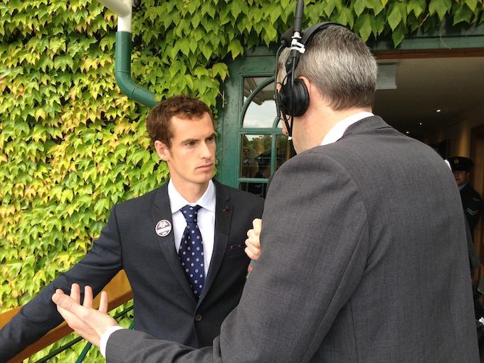 David informs Andy Murray he is picking Novak Djokovic to win Wimbledon