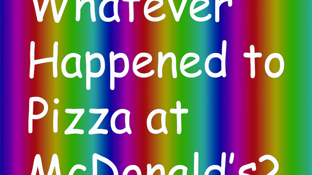 Whatever Happened to Pizza at McDonald's? Tries McD's Pizza project video thumbnail