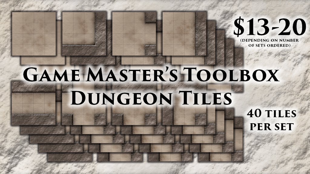"""Fantasy 1"""" Grid Dungeon Tiles for Tabletop RPGs Only $13! project video thumbnail"""
