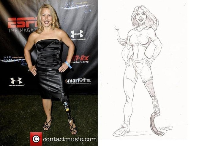 Triathlete Sarah Reinertsen made into a comic book character.