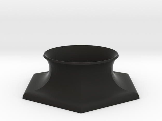 Hexagonas Base, Black Plastic