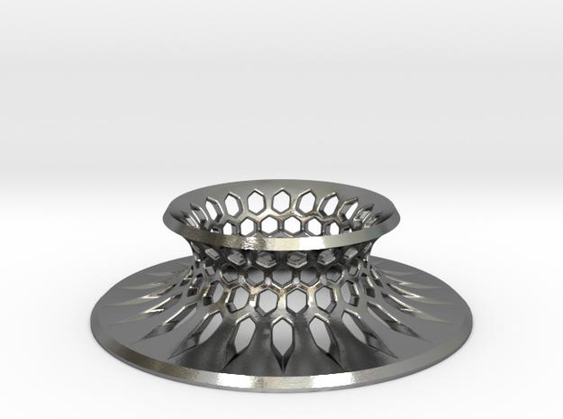 Hexagonal Grid Base, Pure Silver