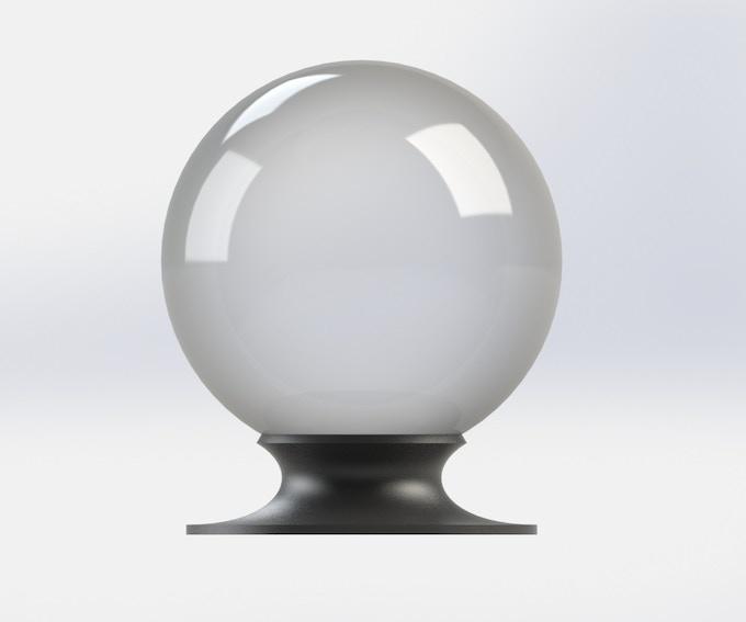 Round Base, Black Plastic