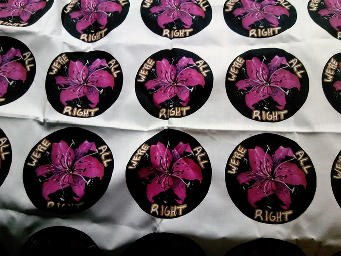Photo of the printed patches, before being cut apart!